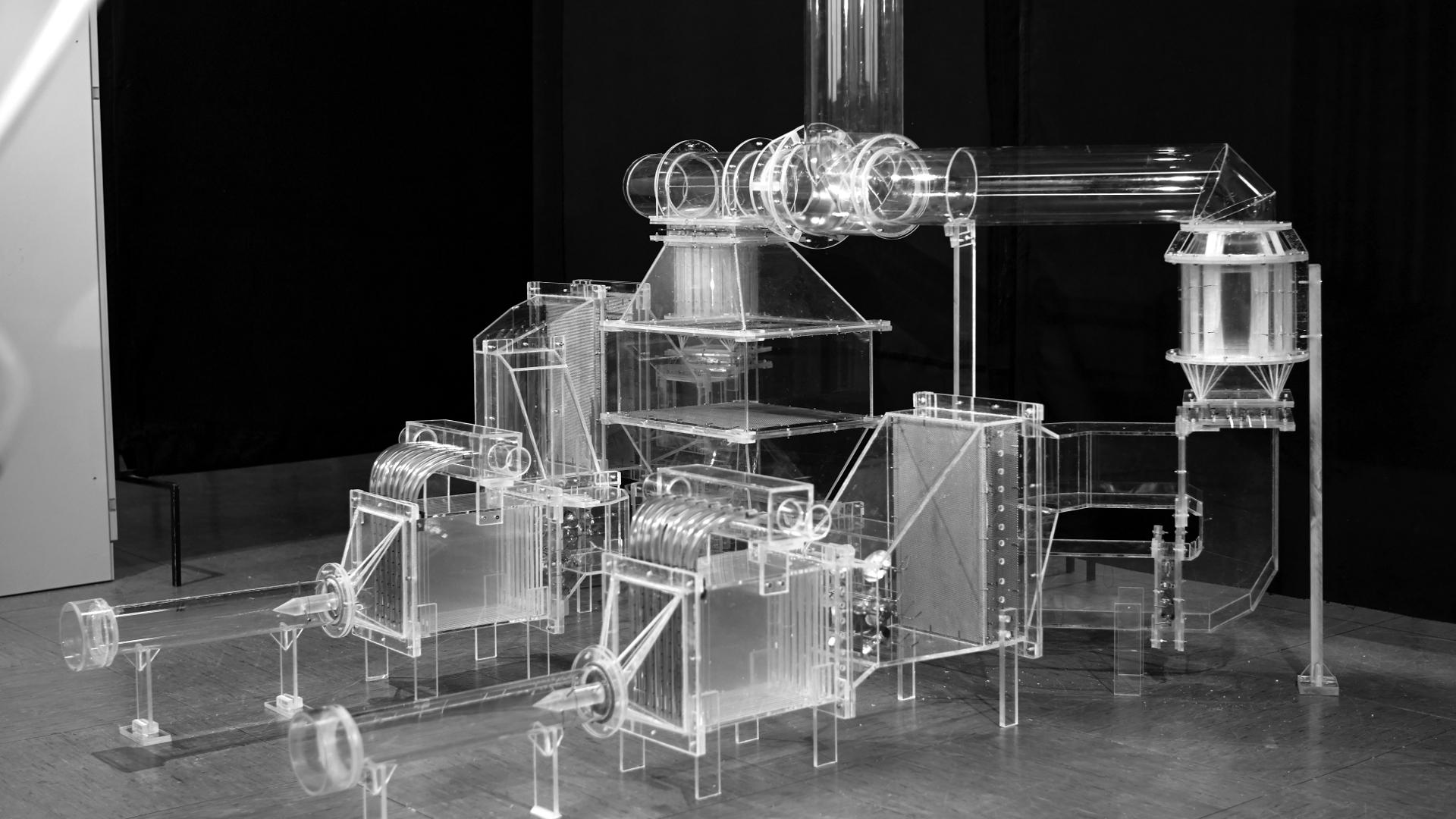 Strömungsmodell einer Gasturbine