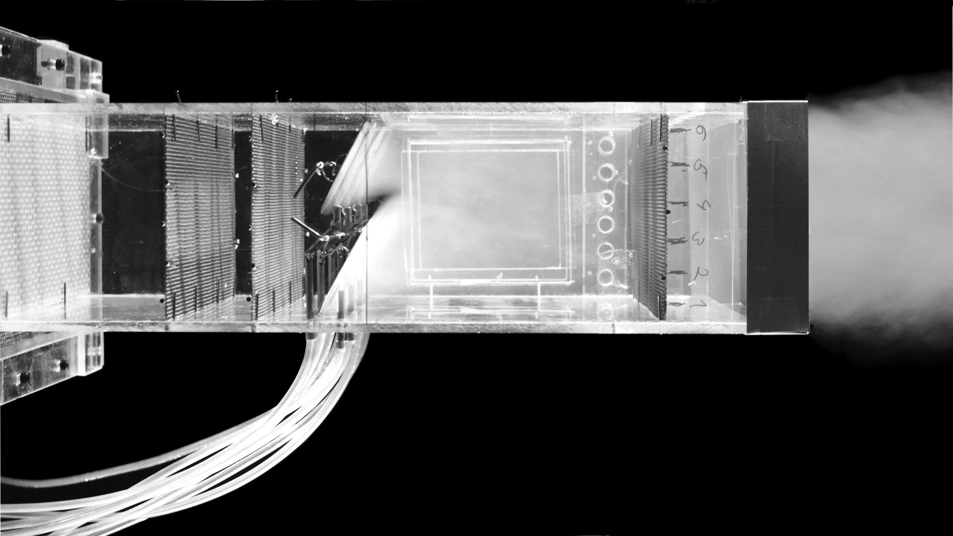 Strömungsmodell eines Kanalsegmentes zur Injektion von Ammoniak