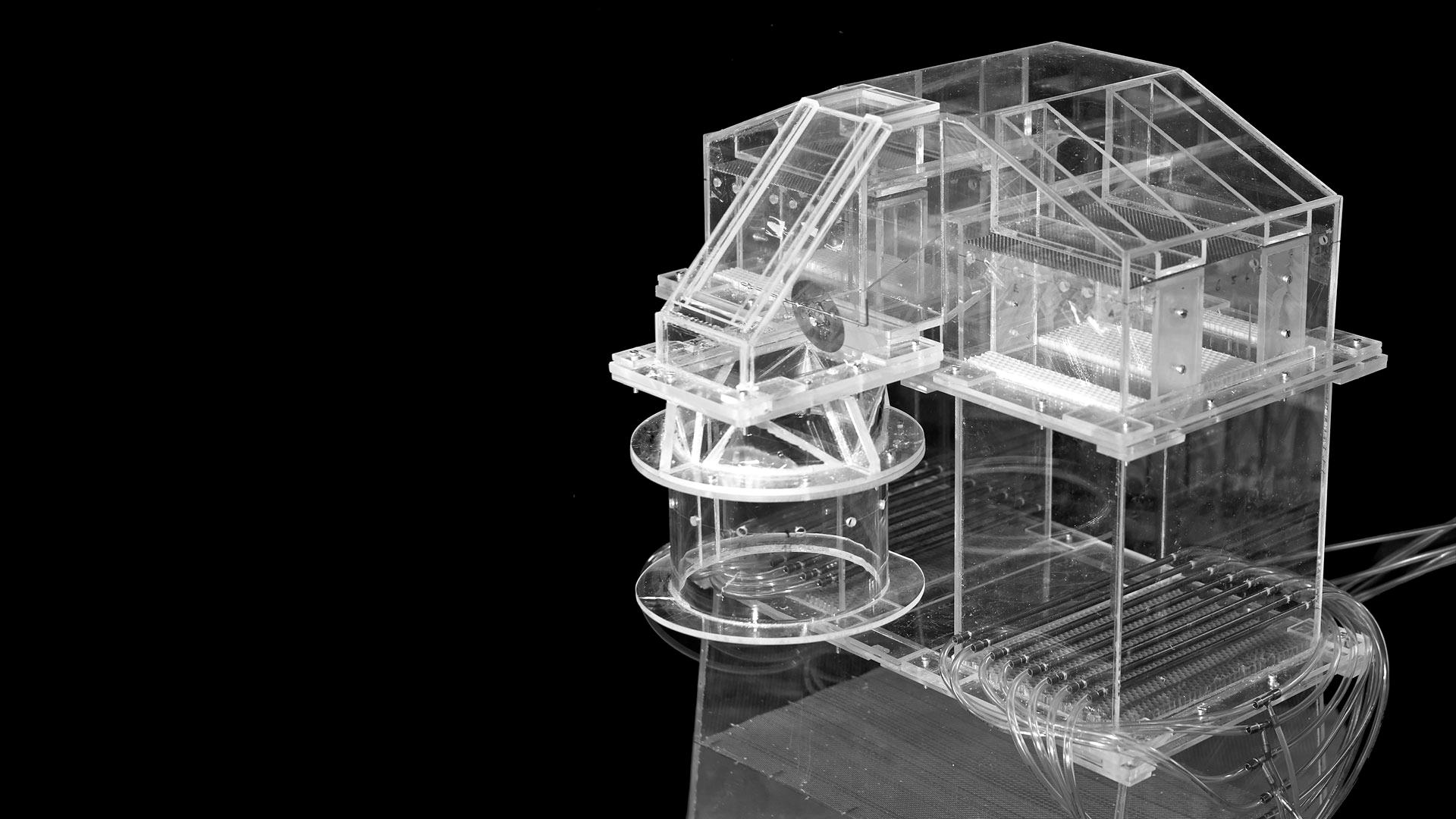 Modell eines Wärmetauschers zur Strömungsoptimierung