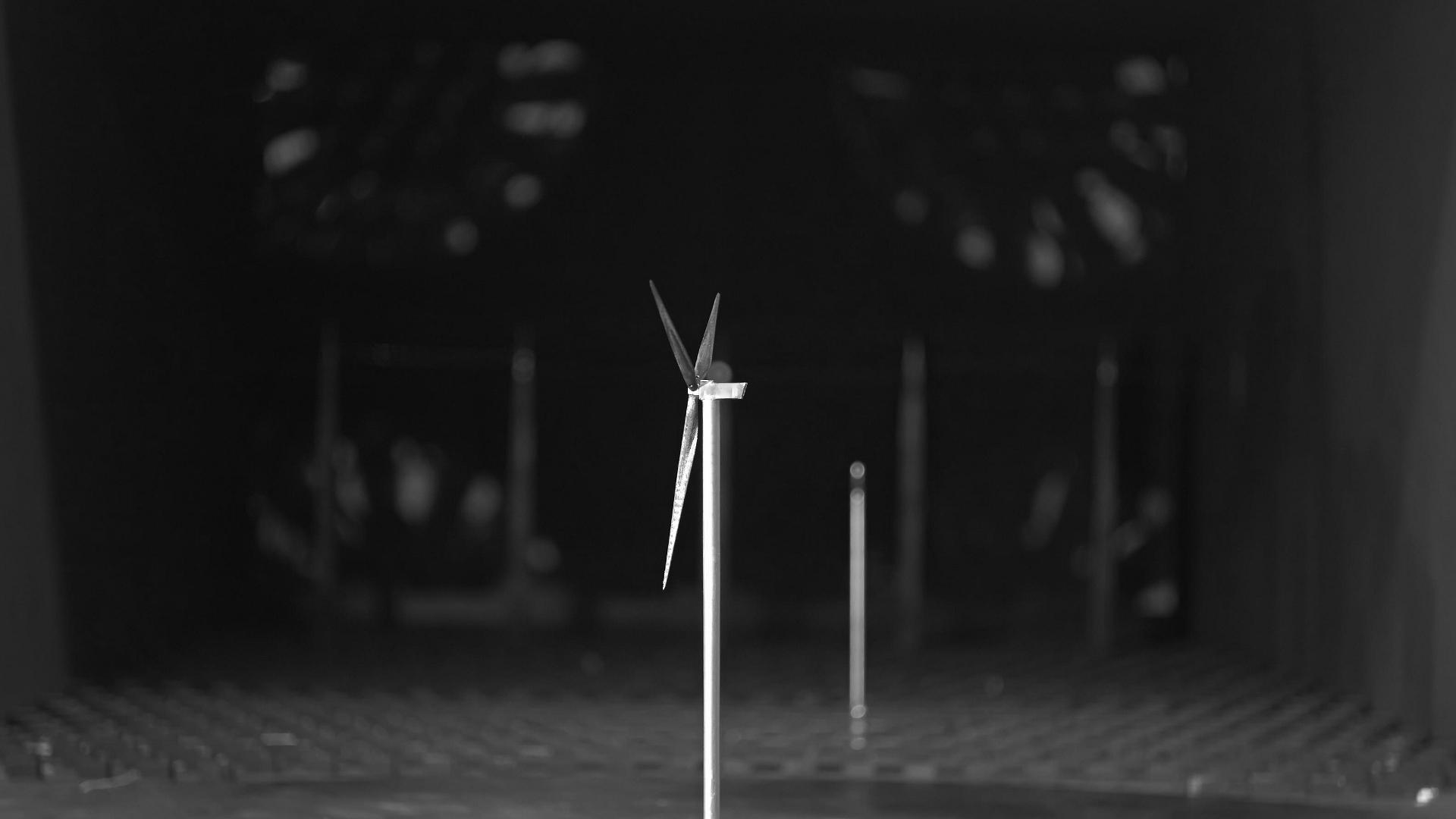 Aeroelastisches Modell im Windkanal